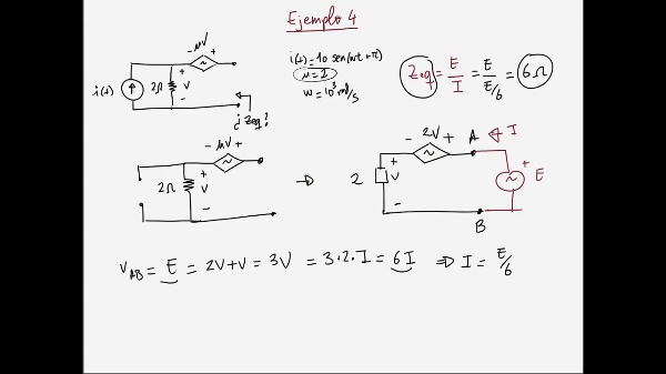 Teoría de Circuitos 1. Lección 6. 5-6 Resumen impedancia equivalente