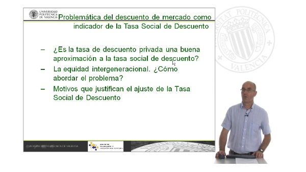 B03. La Tasa de Descuento Social. Problemática del descuento de mercado