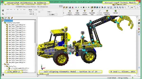 Simulación Cinemática Lego Technic 8459-2 con Cosmos Motion ¿ 17 de 29