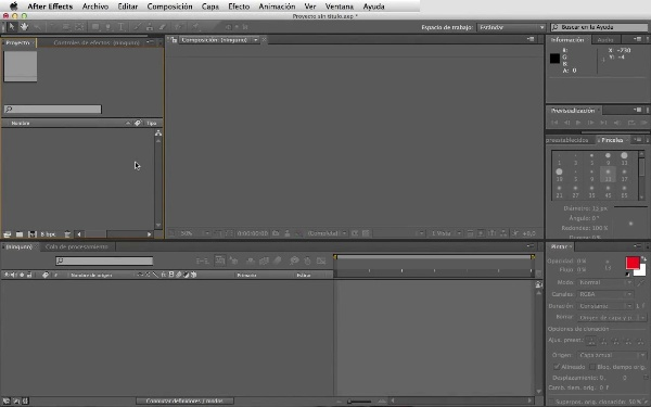 Crear una composición en After Effects