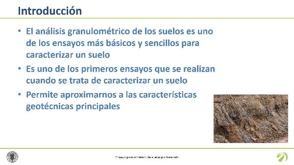 Análisis granulométrico de suelos por tamizado (UNE 103 101)