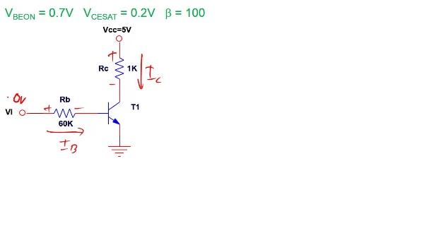 Transistor BJT: Algoritmo para resolver circuitos en emisor común