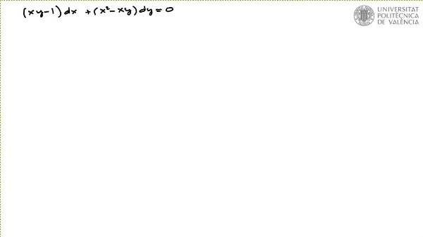 Ecuación diferencial reducible a exacta por factor integrante 2