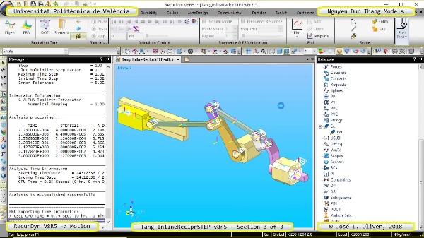 Simulación Cinemática Tang_InlineReciprSTEP-v8r5 con Recurdyn - Mov3d - 3 de 3