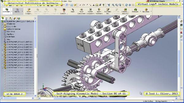 Simulación Cinemática Lego Technic 8064-2 con Cosmos Motion ¿ 06 de 11 - no audio