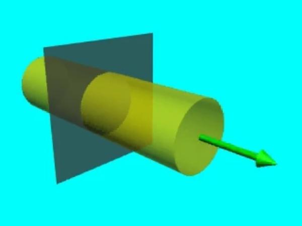 GaussS_3: Campo eléctrico en la superficie sobre la que se aplicará el teorema de Gauss a un plano conductor infinito