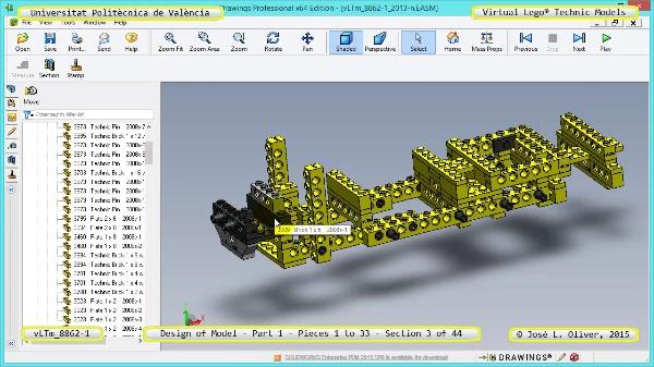 Creación Virtual Modelo Lego Technic 8862-1 ¿ Pieza 1 ¿ 03 de 44
