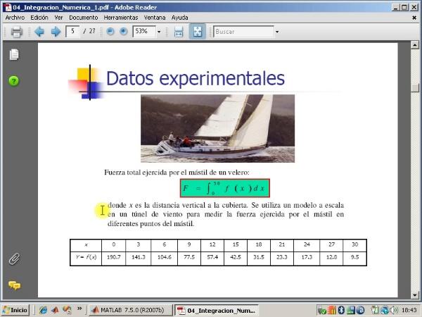 Tema 4. Integración numérica. Fórmula de los trapecios.