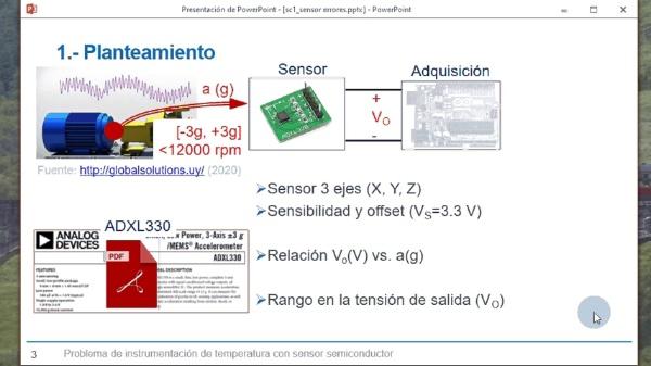 Acelerómetro: cálculo de parámetros y errores