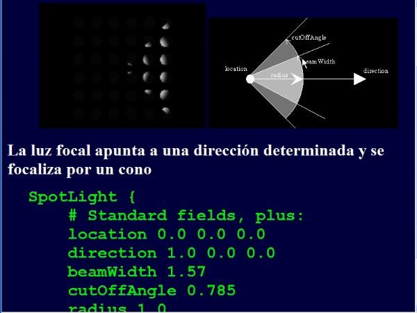 Iluminación y sombreado en VRML