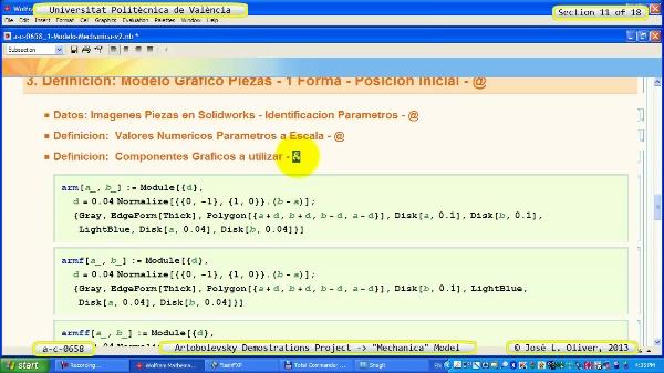 Simulación Mecanismo a_c_0658 con Mechanica - 11 de 18