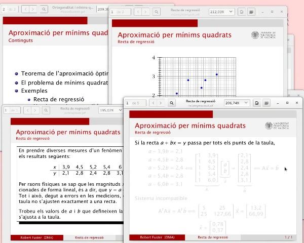 La solució d'un sistema lineal per mínims quadrats