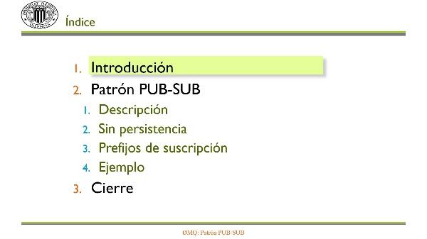 ZeroMQ: Patrón PUB-SUB
