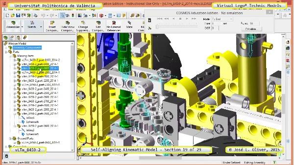 Simulación Cinemática Lego Technic 8459-2 con Cosmos Motion ¿ 19 de 29