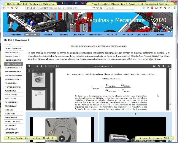Mecánica y Teoría de Mecanismos ¿ 2020 ¿ MM - Clase 06 ¿ Tramo 01 de 11