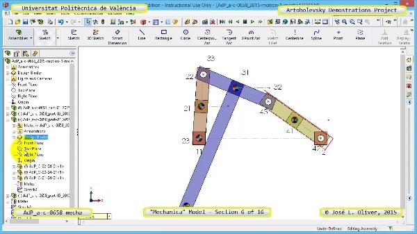 Simulación Mecanismo a-c-0658 con Mechanica - 06 de 16 - Modelo Grafico