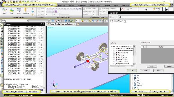Simulación Cinemática Thang_Trucks-SteeringRadius3Inv-wb-v8r5 con Recurdyn - M3dTa - 4 de 4