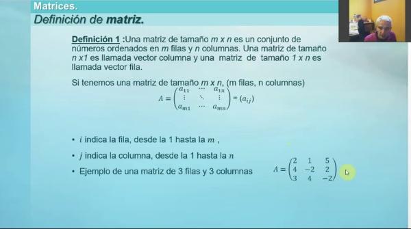 M1-ELE-30 Matrices def y propiedades