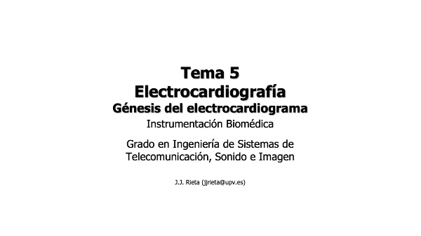 IBM-T5-03 - Electrocardiografía. Triángulo Einthoven