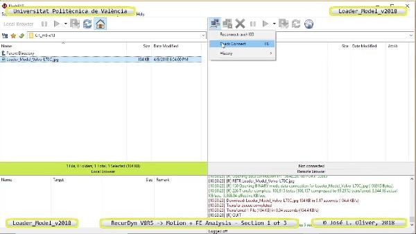 Simulación por Elementos Finitos de Cargadora Volvo L70C con Recurdyn V8R5 - 1 de 3