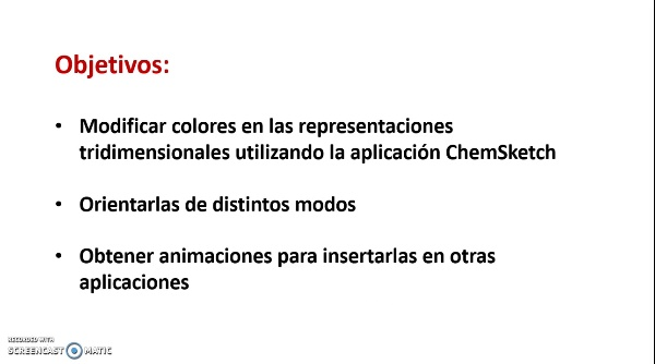 ChemSketch. Cómo modificar y animar las representaciones tridimensionales