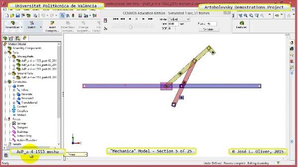 Simulación Mecanismo a-4-1553 con Mechanica - 05 de 25 - Dimensionado