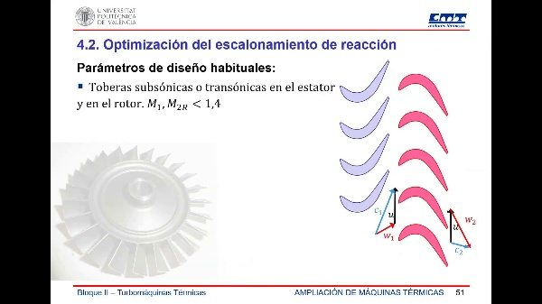 AEMT - Turbomáquinas - 5.- Escalonamiento de reacción