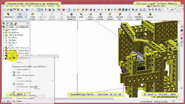 Creación Virtual Modelo Lego Technic 8862-1 ¿ Montaje Modelo ¿ 16 de 44