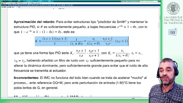 PIDs con IMC para procesos lentos: modificación S-IMC (Skogestad), ejemplo Matlab