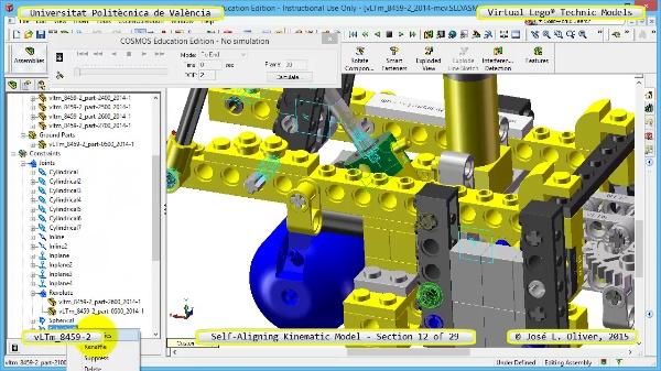 Simulación Cinemática Lego Technic 8459-2 con Cosmos Motion ¿ 12 de 29