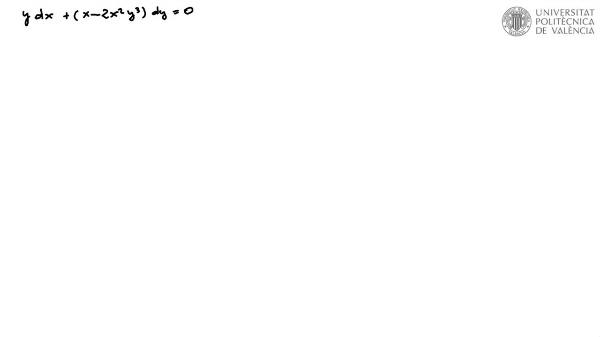 Ecuación diferencial reducible a exacta por factor integrante 4