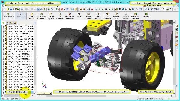 Simulación Cinemática Lego Technic 8459-2 con Cosmos Motion ¿ 01 de 29