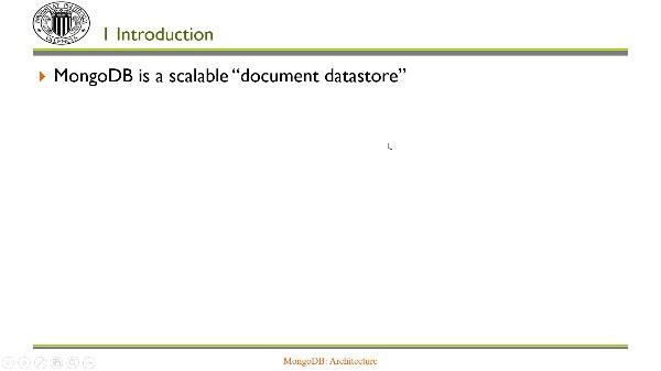 MongoDB: Architecture