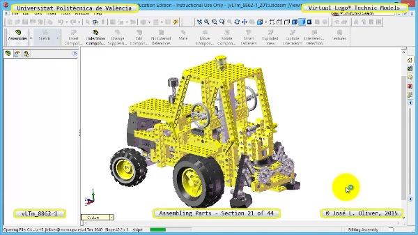 Creación Virtual Modelo Lego Technic 8862-1 ¿ Montaje Modelo ¿ 21 de 44