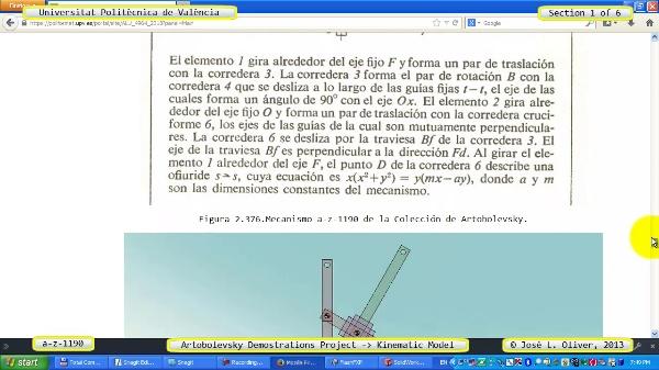 Simulación Mecanismo a_z_1190 con Cosmos Motion - 1 de 6