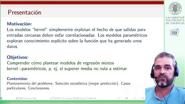 Modelos semiparamétricos (Kernel+regresores): estimación de salidas y parámetros