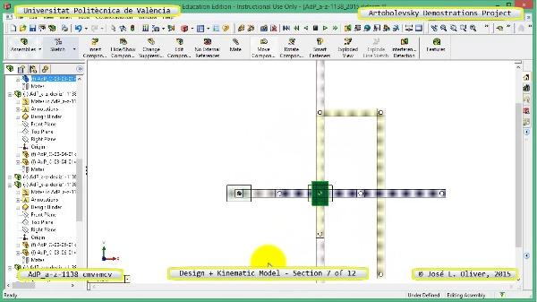 Creación Virtual y Simulación Mecanismo a-z-1138 con Cosmos Motion - 07 de 12