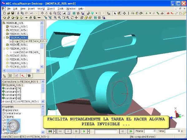 Montaje de robot ABB con MSC Visual Nastran Desktop -Tramo 04 de 07