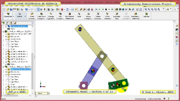 Simulación Mecanismo a-c-0683 con Cosmos Motion - 03 de 13
