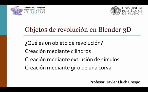 OBJETOS DE REVOLUCIÓN EN BLENDER 3D