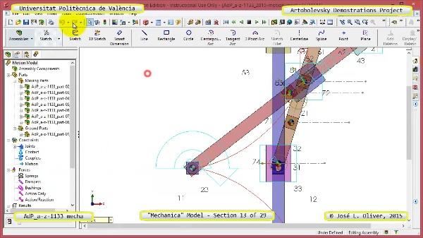 Simulación Mecanismo a-z-1133 con Mechanica - 13 de 29