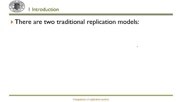 Comparison of replication models