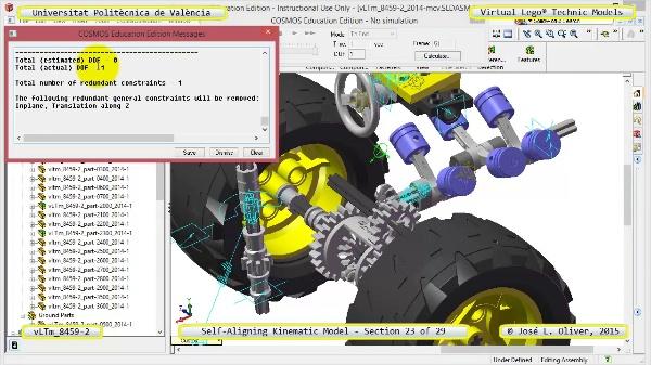 Simulación Cinemática Lego Technic 8459-2 con Cosmos Motion ¿ 23 de 29