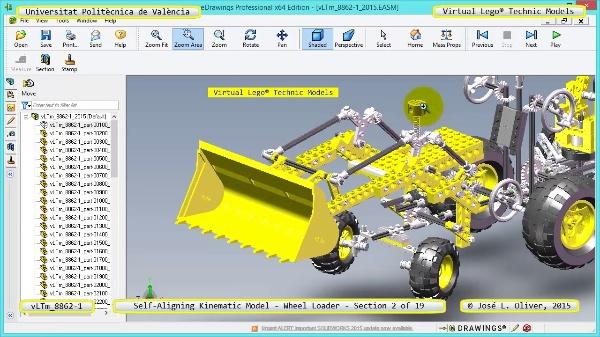 Simulación Cinemática Modelo Lego Technic 8862-1 -Cargador- 02 de 19