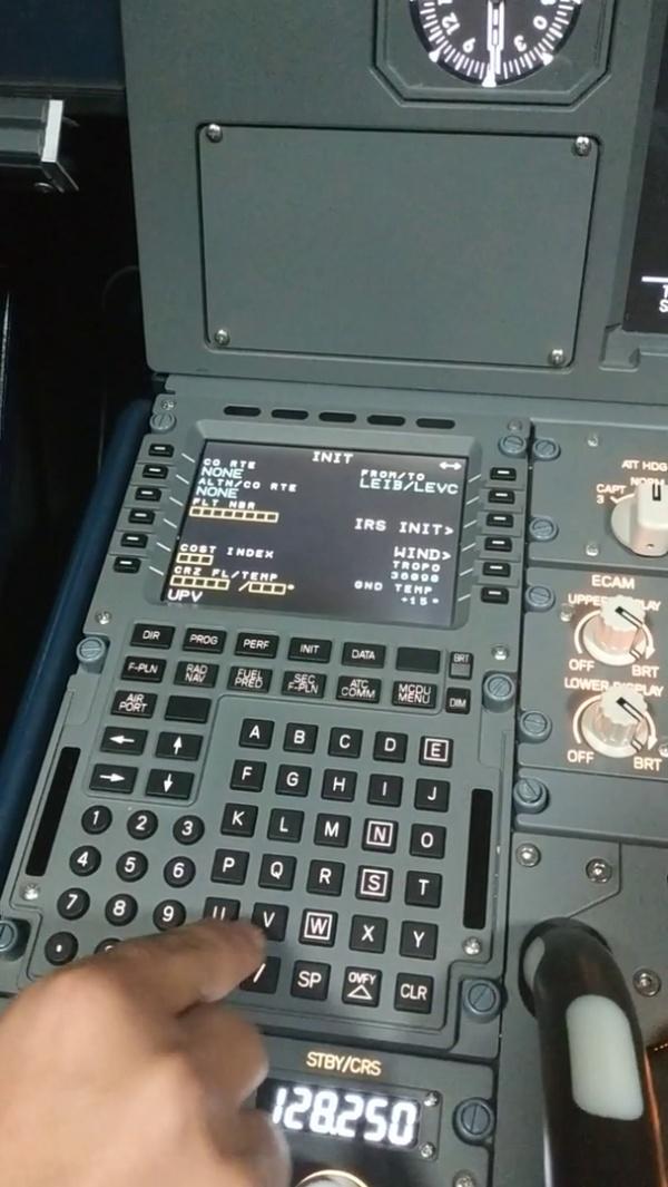 Programación plan de vuelo en un A320