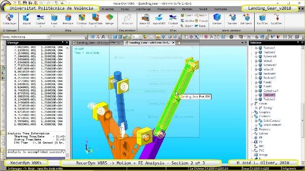 Simulación por Elementos Finitos de un Tren de Aterrizaje con Recurdyn V8R5 - 3 de 3