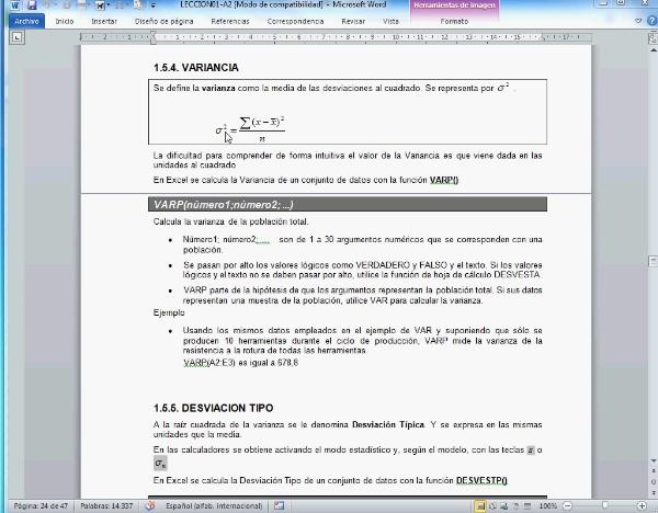P-EST-05-F1 parámetros variancia