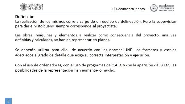 El documento Planos