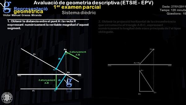 I. Avaluació de geometria descriptiva (ETSIE)