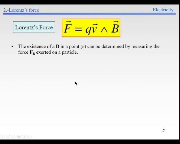 Elec-4-Magnetic Field-S16-S21-Lorentz Force